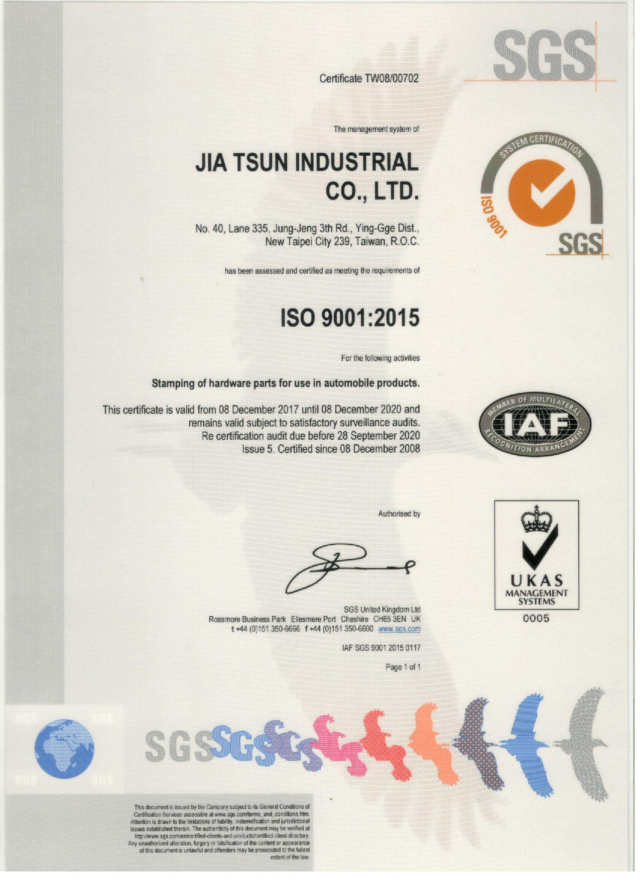 Certificated By Iso 9001 2015 Stamping And Press Stainless Steel